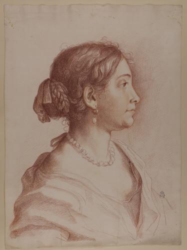 Retrato femenino de perfil  (Francesca Gommi, mujer de Carlo Maratti)