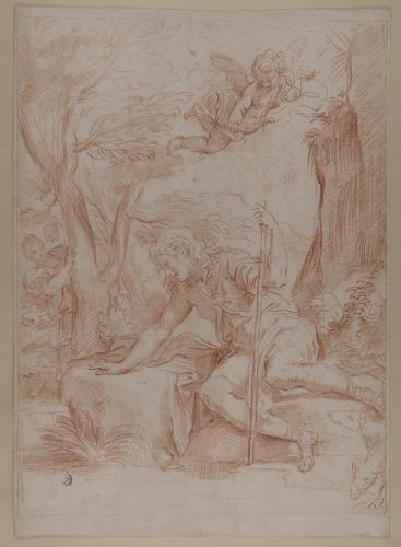 Estudio de Narciso, la Ninfa Eco y Cupido