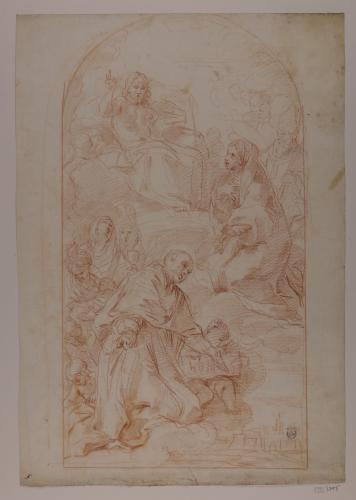 Estudio de San Carlos Barromeo y San Ambrosio en gloria