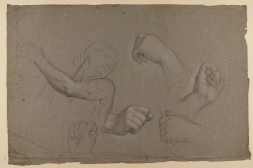 Estudio de manos y media figura