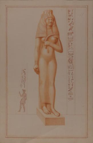 Estudio de la escultura de la reina Tuya, madre de Ramses II