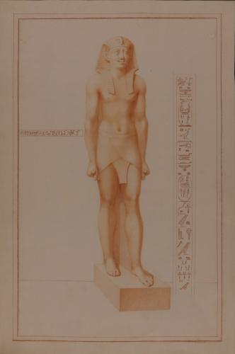Estudio de la escultura de Ptolomeo II Filadelfo