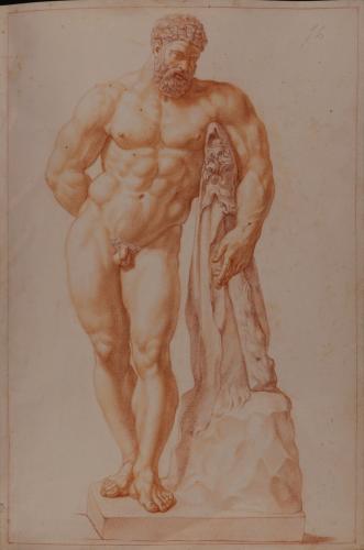 Estudio del Hércules Farnese