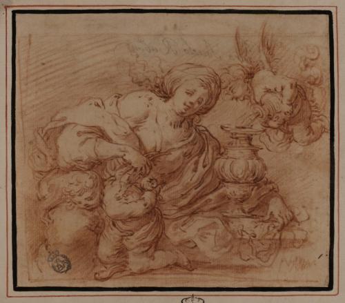 Estudio de Venus castigando a Cupido