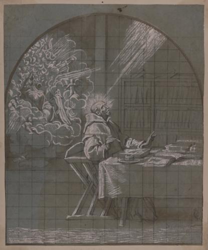 Estudio de visión de San Dionisio Cartujano en su celda