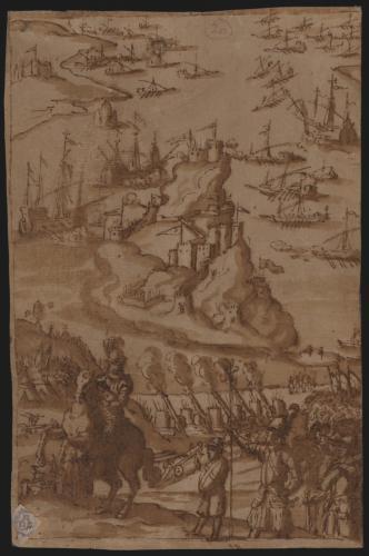 Estudio del asedio a una plaza berberisca (Peñón de Vélez de la Gomera)