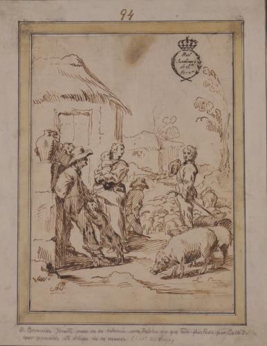 Estudio de una escena de pastores