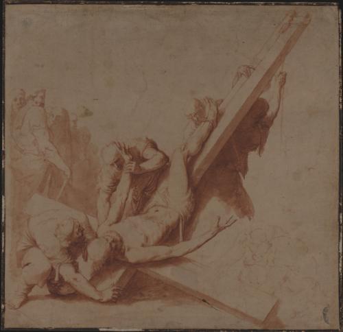 Estudio de la crucifixión de San Pedro