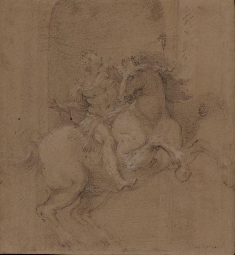 Estudio de el Emperador Constantino a caballo