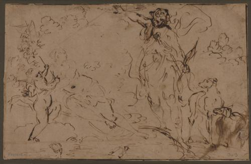 Estudio de Venus, Adonis y Cupido