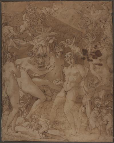 Estudio de Marte desarmado por Cupido y Venus desvestida por Ninfas