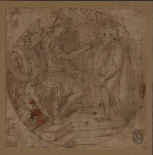 Emperador romano recibiendo a una comitiva