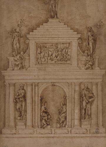 Estudio para los sepulcros de León X y Clemente VII en Santa Maria sopra Minerva