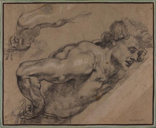 Estudio para la figura de Tarquinio del rapto de Lucrecia