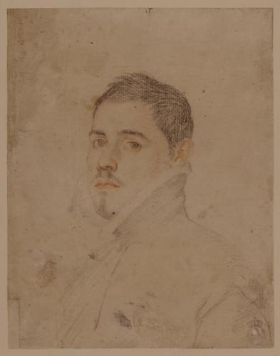 Estudio para retrato masculino de perfil hacia la izquierda