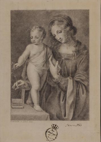 Estudio de la Virgen con el Niño de Leonardo da Vinci