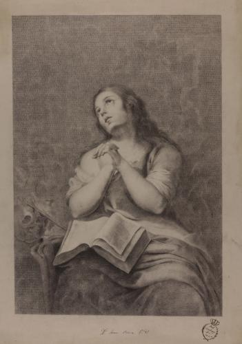 Estudio de la Magdalena penitente de Murillo