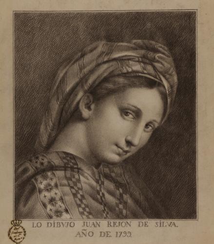 Estudio de la cabeza de la Virgen de la silla de Rafael