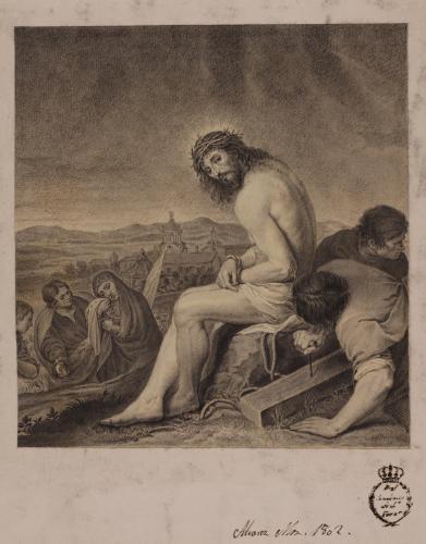 Cristo esperando a su crucifixión