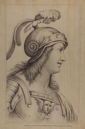 Estudio del llamado Alcibíades de la Escuela de Atenas de Rafael