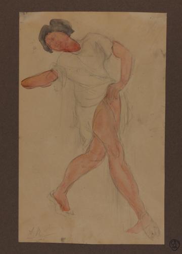 Estudio de mujer bailando