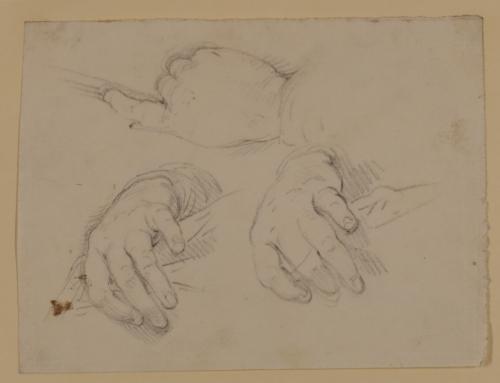Tres estudios de manos
