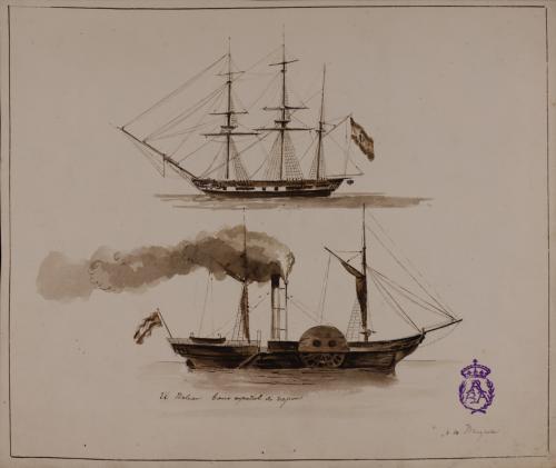 Estudio de fragata y vapor