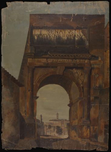 Vista del Arco de Tito