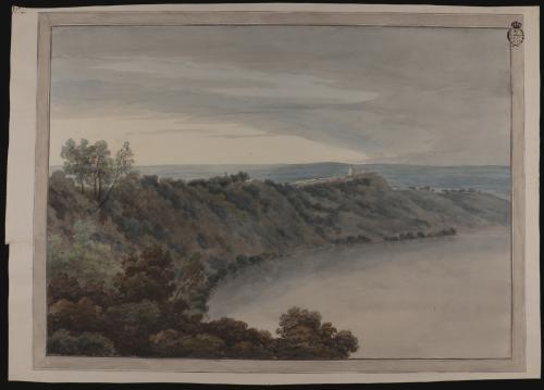 Vista del lago de Albano, desde la Galleria di Sotto