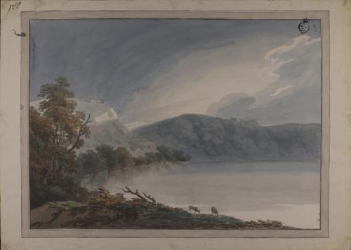 Lago de Albano, desde la Galleria di Sopra