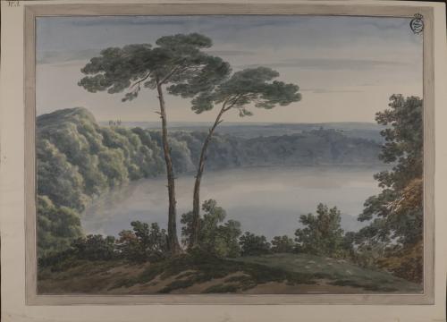Vista del lago de Albano, desde Palazzuolo