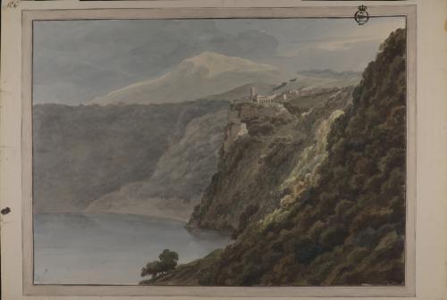 Vista del lago de Nemi
