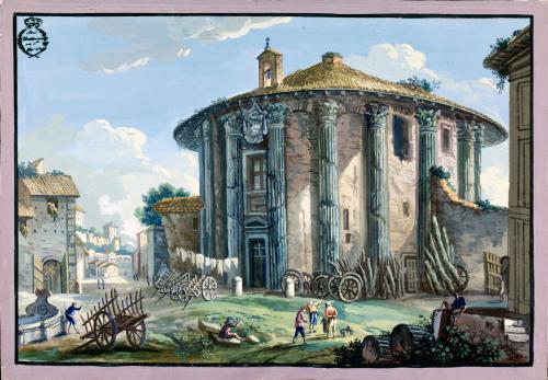 Templo de Hércules en la plaza de la Bocca della Veritá