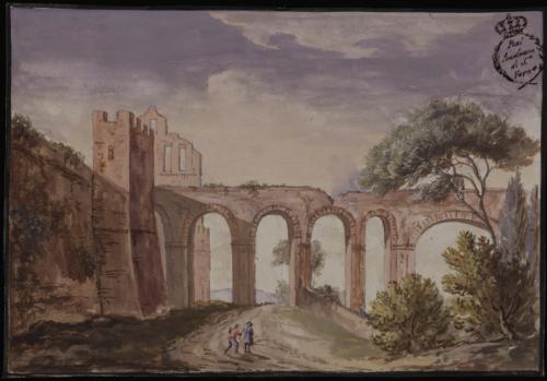 Vista de un acueducto