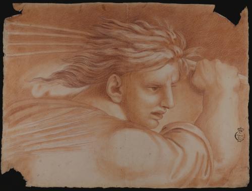 Estudio de cabeza de un ángel