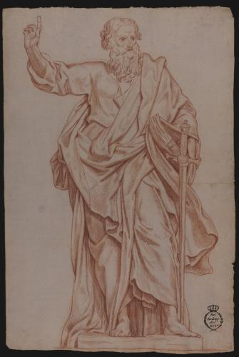 Estudio de la escultura de San Pablo de San Juan de Letrán