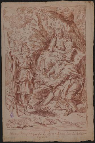 Estudio de Numa Pompilio presenta Roma las leyes dictadas por la ninfa Egeria