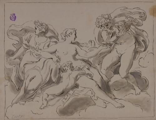 Estudio de Venus, Ceres, Baco y Cupido