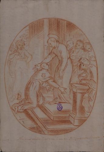 Estudio de San Francisco de Borja entrando en la Compañía de Jesús