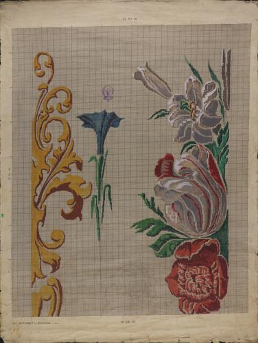 Apunte de motivos decorativos para textil
