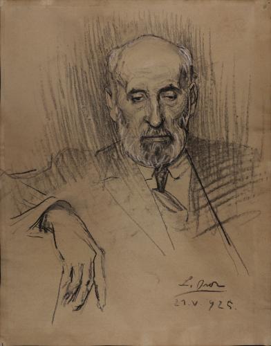 Estudio para retrato de Santiago Ramón y Cajal