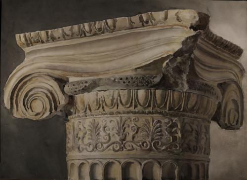 Estudio de capitel jónico del Erecteion