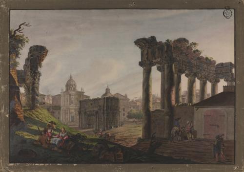 Vista del templo de la Concordia