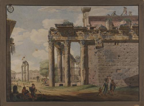 Vista del Templo de Antonino y Faustina
