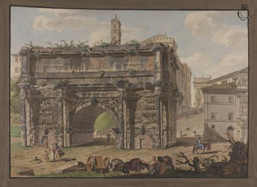 Vista del Arco de Septimio Severo