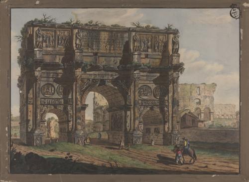 Vista del Arco de Constantino