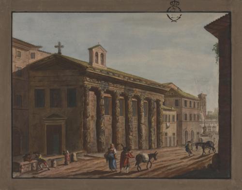 Vista del Templo de la Fortuna Viril