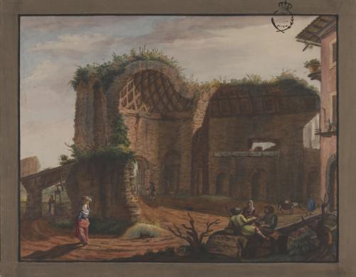Vista del Templo del Sol y la Luna (Tívoli)