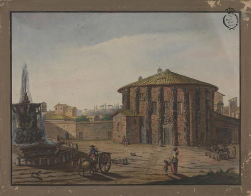 Vista del templo de Vesta