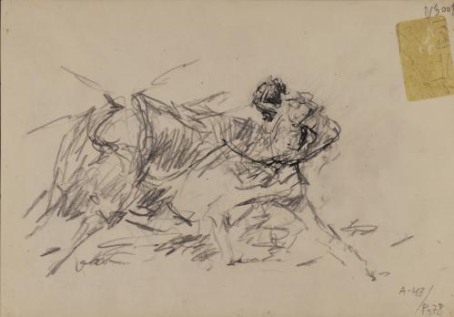 Estudio de faena del torero Domingo Ortega